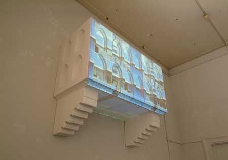 Berndnaut Smilde's 'Twelve Entrances', a projected video still on a polystyrene sculpture