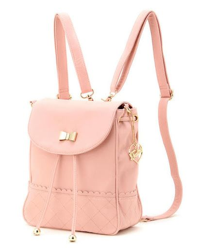 7e7194ca57 Obsessed! how cute is this pastel pink and gold backpack  the square shape  and style is so vintage retro!