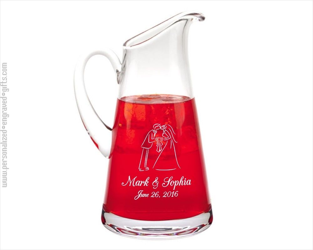 Custom Engraved Water Pitchers Amp Carafes Glass Amp Crystal Glass Pitcher Custom Engraving