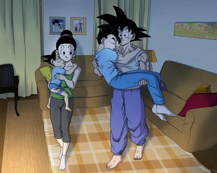 Goku milk goten gohan | Dragon Ball | Pinterest | Goku ...