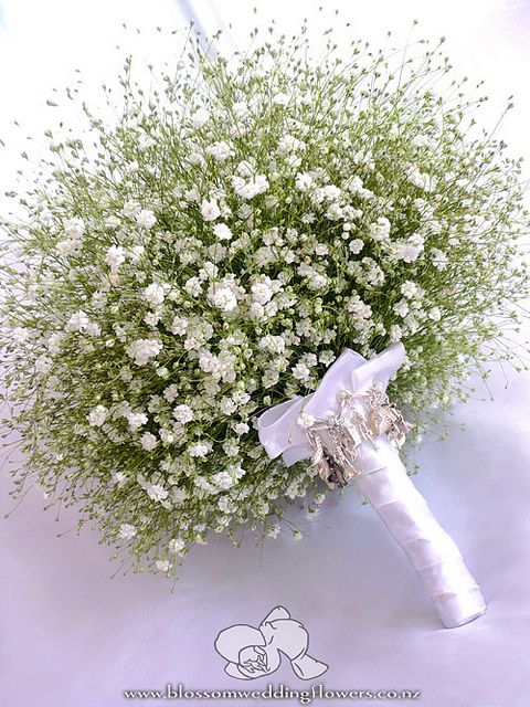 Babys Breath Bouquet Babys Breath Bouquet Wedding Flowers White Wedding Flowers
