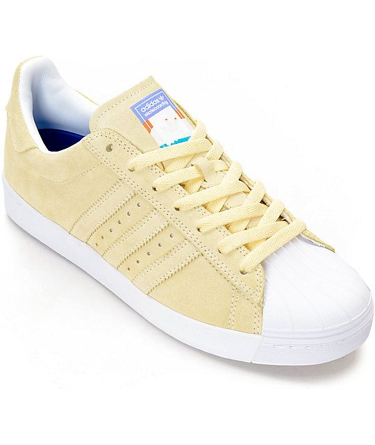 04083f9b8533 adidas Superstar Vulc ADV Pastel Yellow Shoes in 2019