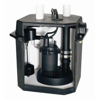 Flotec 6 Gallon Sink Tray System With 1 4 Hp Sump Pump Fp0s1800lts At The Home Depot Sump Pump Laundry Sink Sink