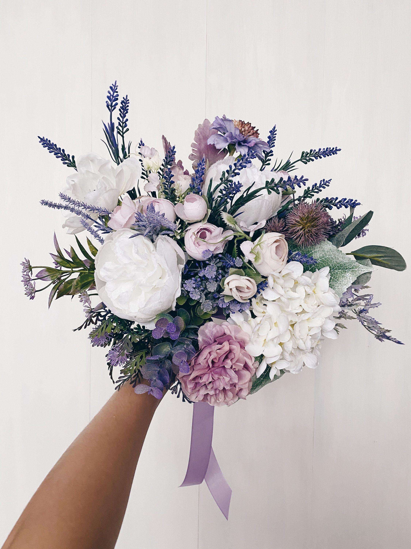 Wedding bouquet, Bridal bouquet lavender, Lilac Bridesmaids Bouquet, Wedding Flowers, Lavender Wedding bouquet, Bouquet wedding purple