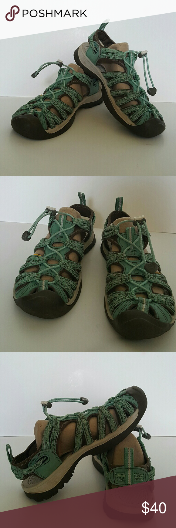c34803675b77 KEEN sandals green waterproof sport hiking Good used condition. Non smoking  house. No hols. No spots. Box P. Keen Shoes Sandals