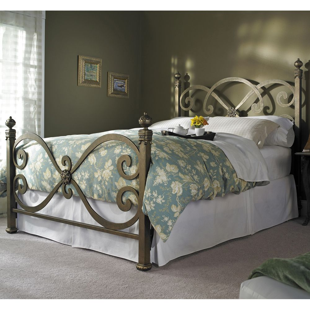 Ambroise Bed by Wesley Allen Iron Beds, Bedroom