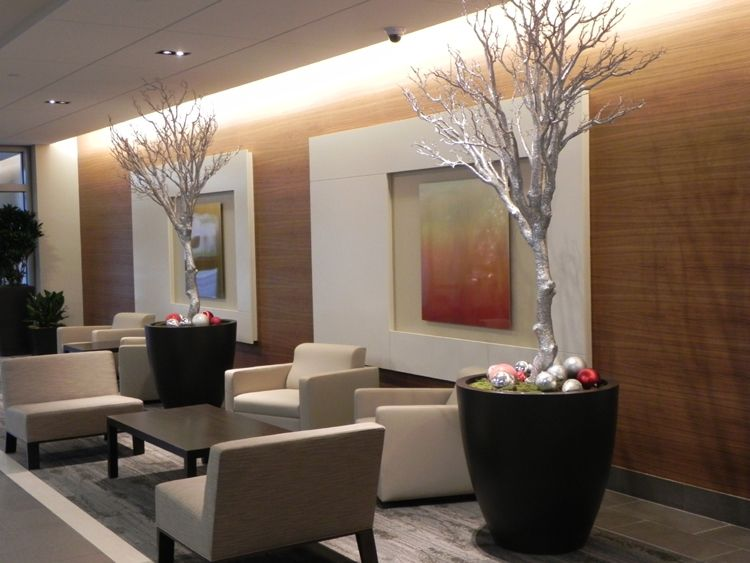 Modern Hotel Foyer : Modern christmas commercial lobby designed by timothy de