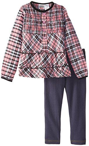 Peanut Buttons Baby Girls Plaid Jegging Set Pink 12 Months >>> More info could be found at the image url.