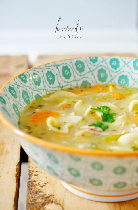 Homemade Turkey Soup | lark & linen