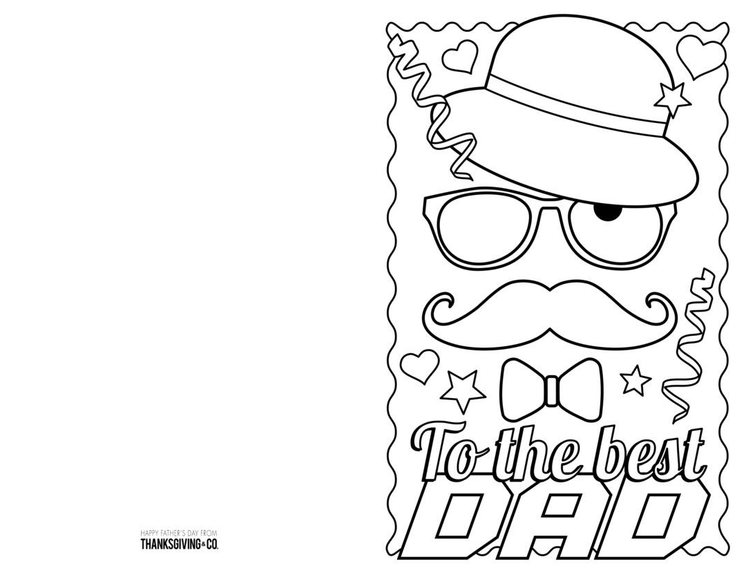 4 Free Printable Father S Day Cards To Color In