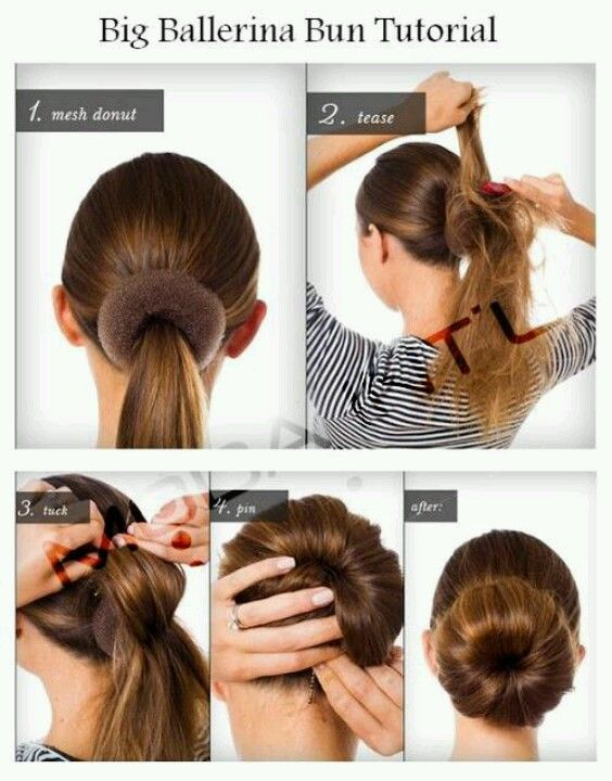 Bun Form Tutorial Works At Different Level On Your Head Diy Hairstyles Hair Styles Ballerina Bun Tutorial