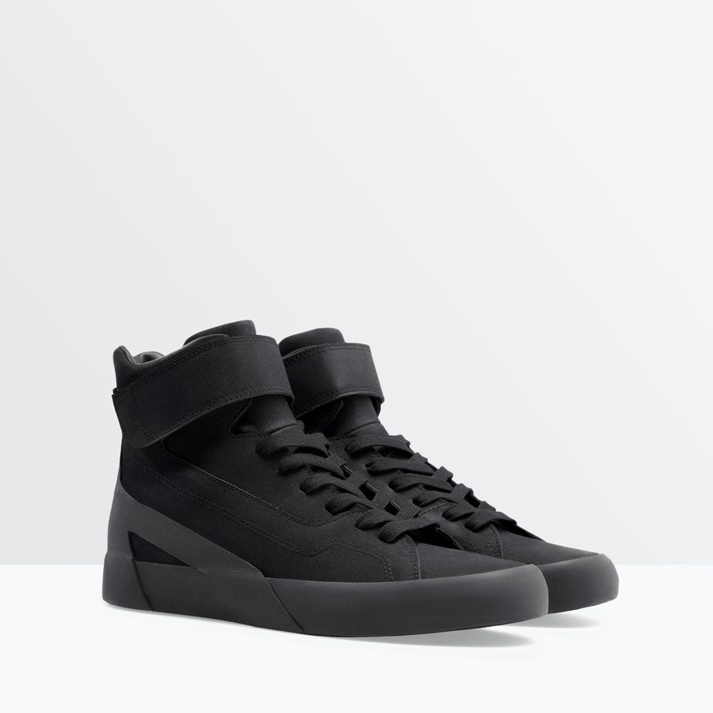 15a4184fd98a57 ZARA - HOMME - BASKETS MONTANTES VELCRO | Sneakers | Chaussure ...