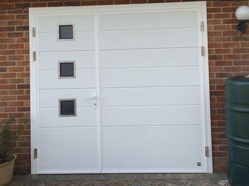 Glazed Side Hinged Garage Doors London Cerberus Doors Uk Doors Garage Doors Side Hinged Garage Doors