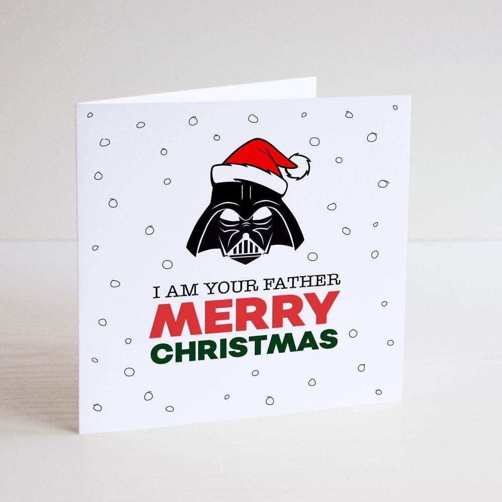 Funny greeting card christmas santa father star wars darth funny greeting card christmas santa father star wars darth vader kristyandbryce Image collections