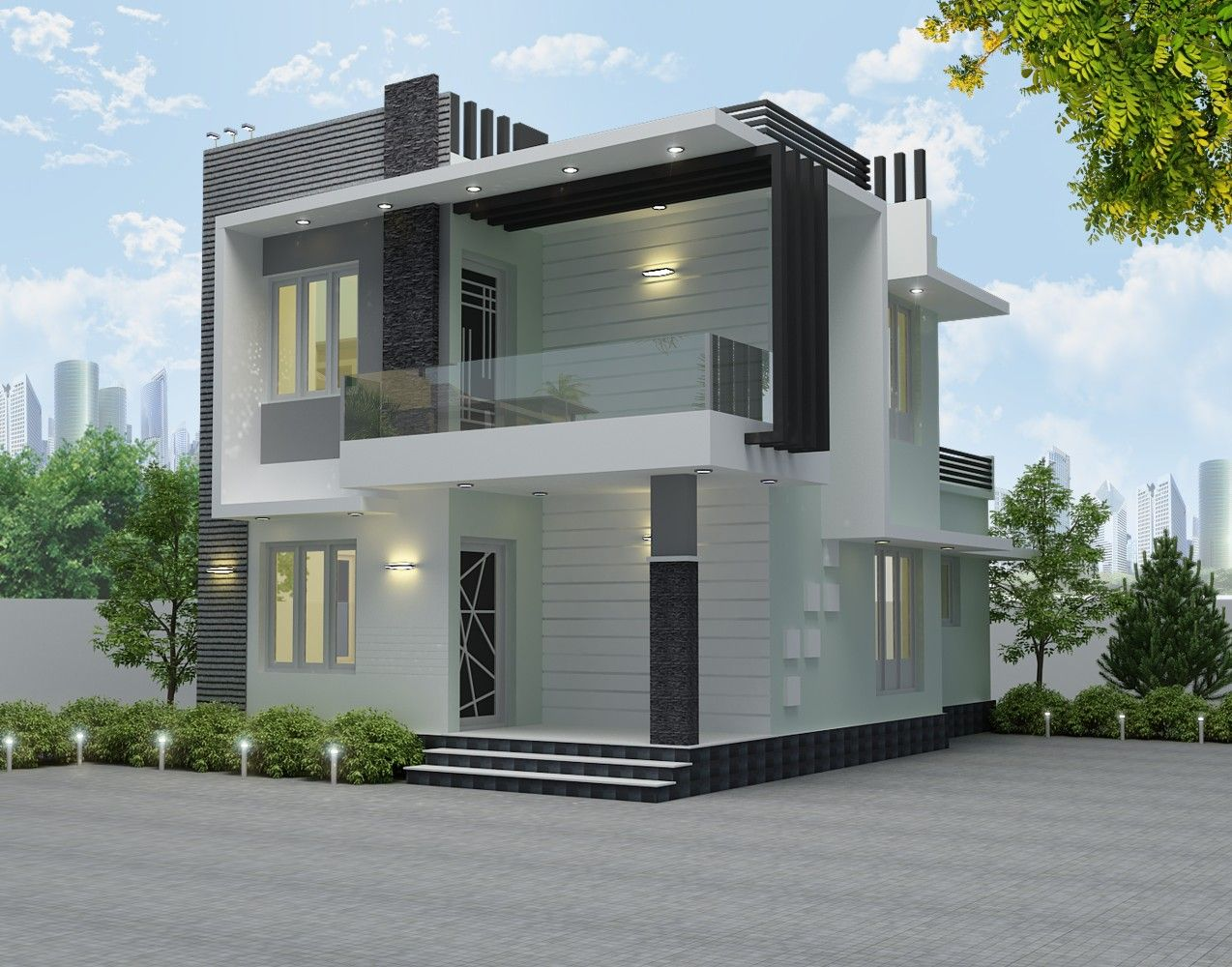 Milda S Home Duplex House Design House Front Design Small House Elevation Design