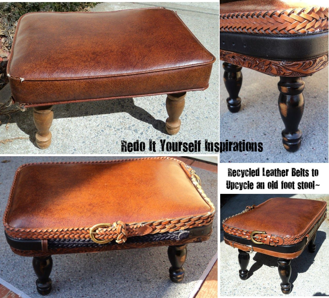 Enjoyable Redo It Yourself Inspirations Upcycled Foot Stool Machost Co Dining Chair Design Ideas Machostcouk