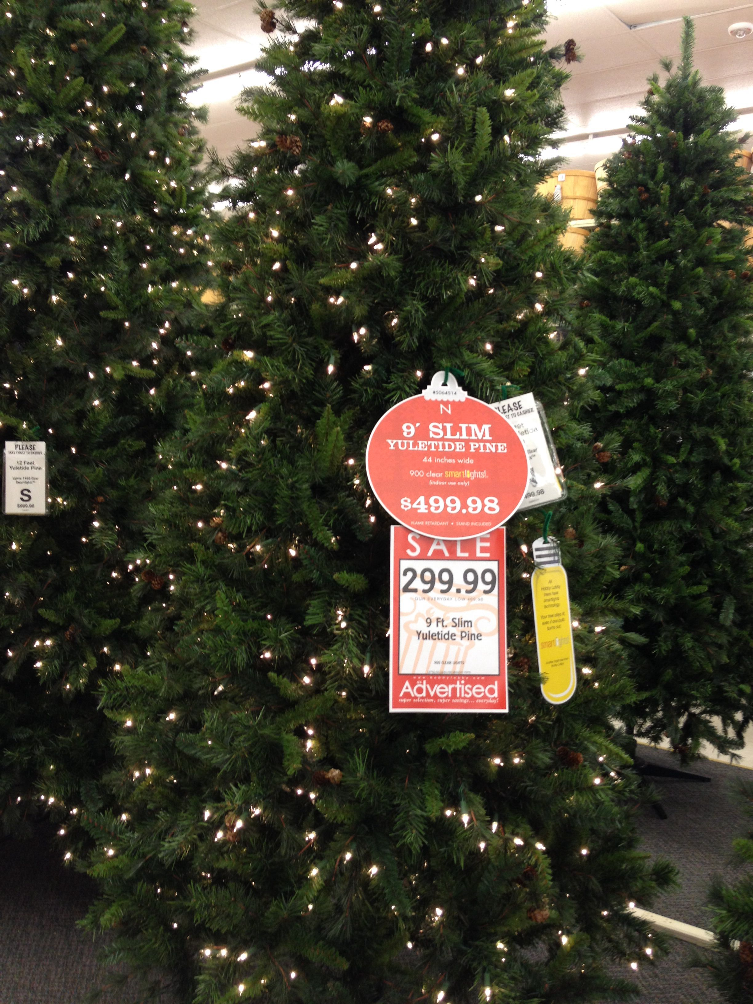 9 ft prelit christmas tree at hobby lobby