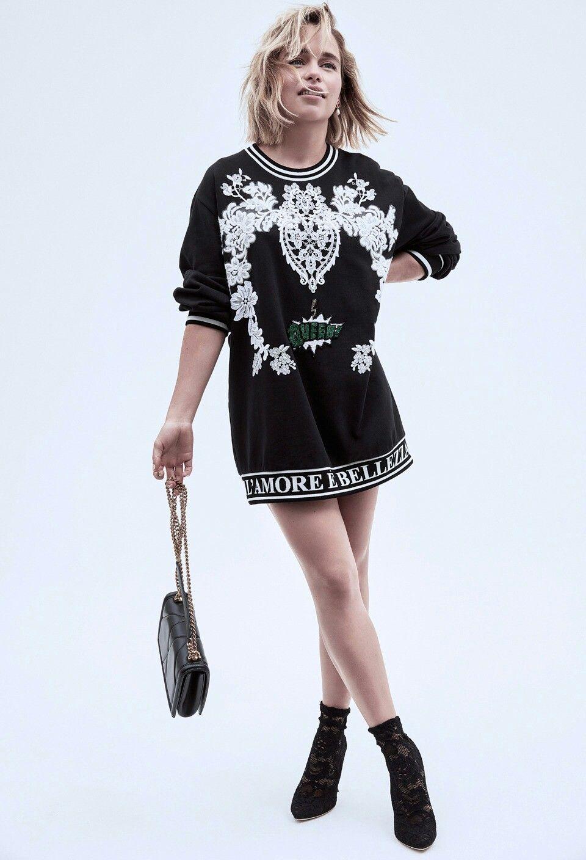 Emilia Clarke | Fashion, Casual dress, Shirt dress