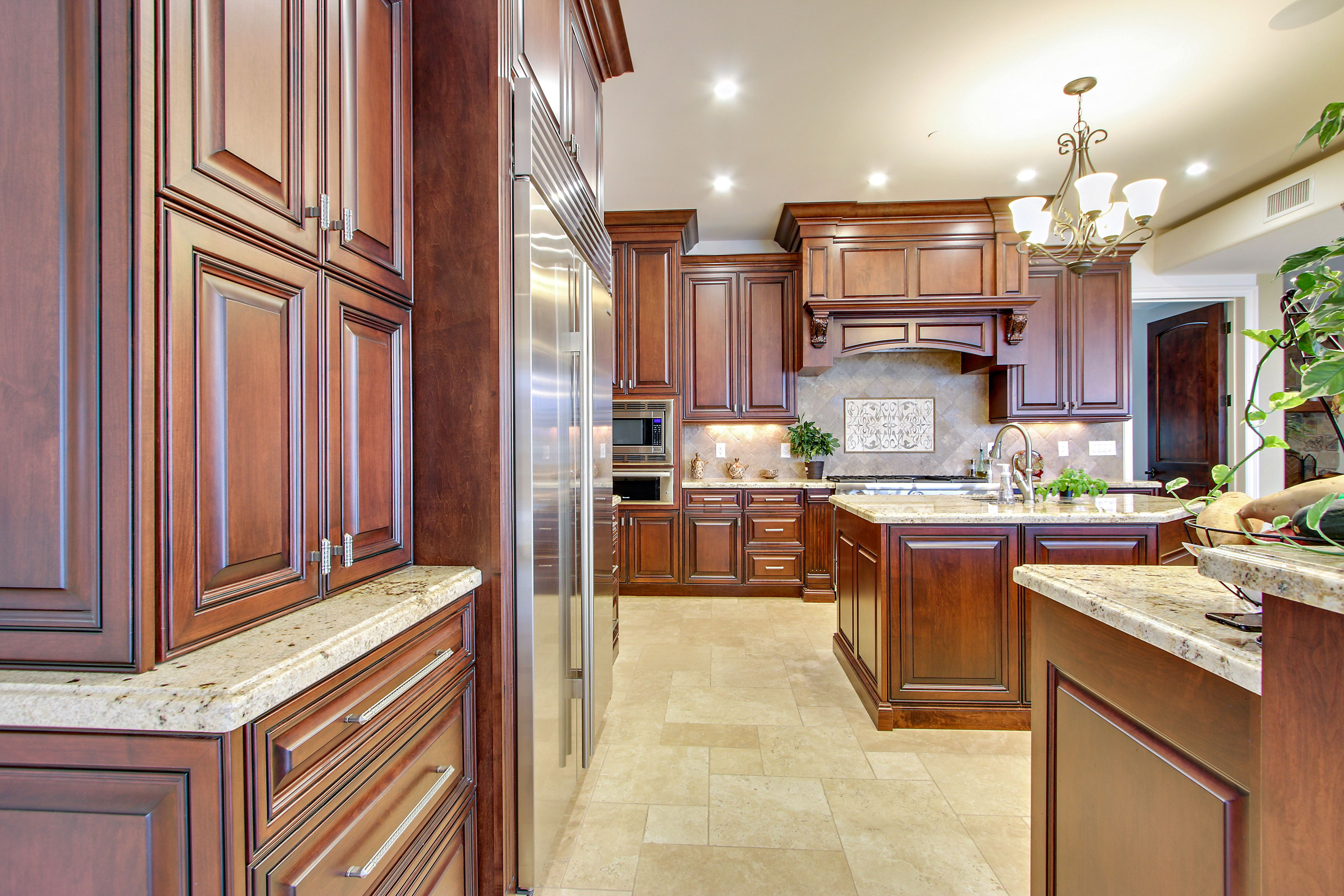 Stained Alder Kitchen Cabinetry Made By Norm Tessier Cabinets Inc Rancho Cucamonga Ca 91730