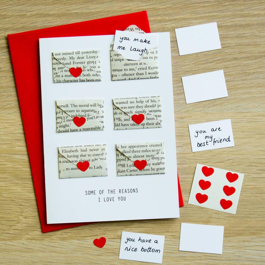 Six Love Note Mini Envelope Valentine S Card Valentines Cards Birthday Cards For Boyfriend Birthday Cards Diy