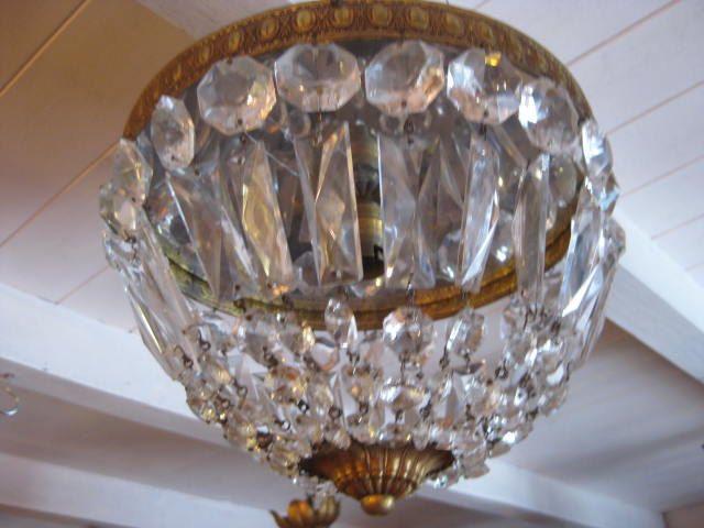 Plafonniere Met Kristallen : Franse koper met kristallen plafonniere door pollysonlyworld op