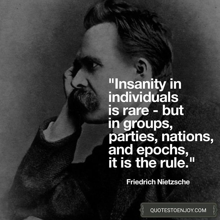 Insanity In Individuals Is Something Rare But In Friedrich