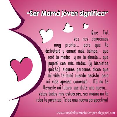 Sabes Que Significa Ser Mamá Jóven Frases De Mamás Embarazadas Mensaje Para Mama Frases Para Embarazadas