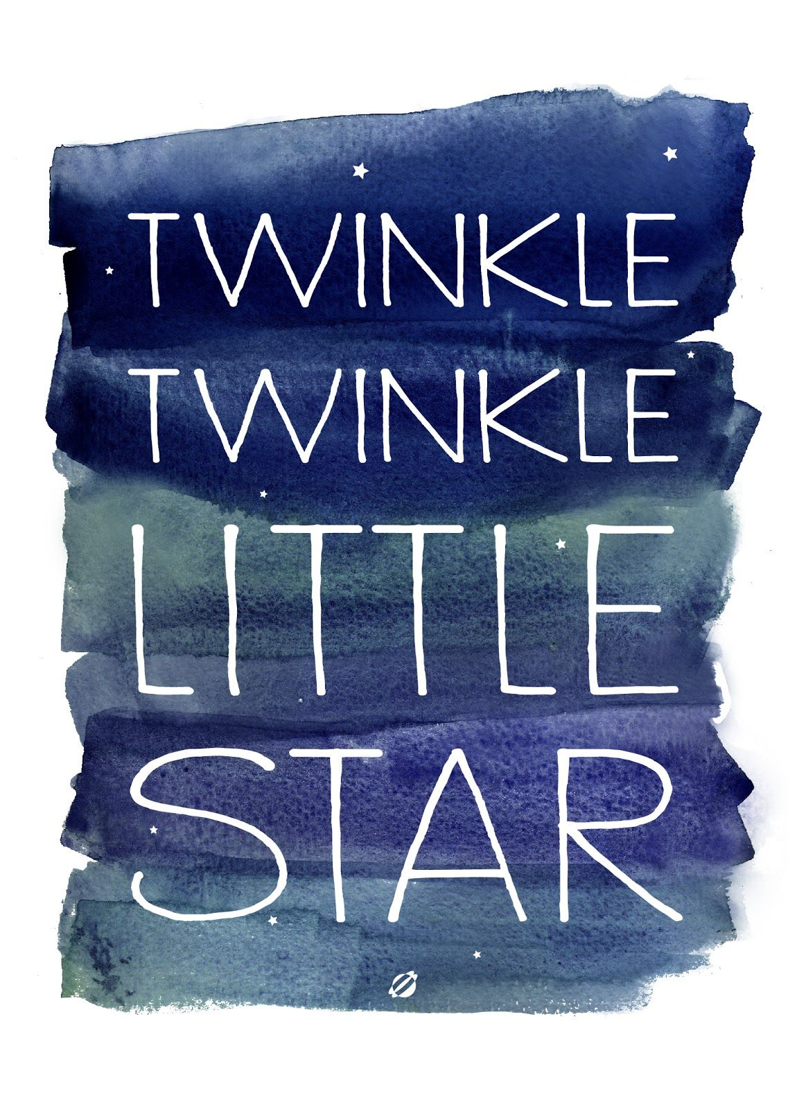 Twinkle Twinkle Little Star. Free printable. Cute DIY art