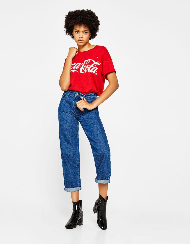 T-shirt Coca-Cola - Tee-Shirts - Bershka Belgium  127484716