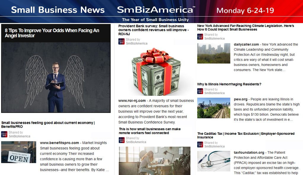 Small Business News 6 24 19 Business Angels Business News Business