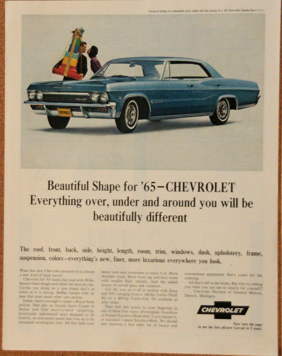 1965 Chevy Corvair Chevrolet Impala Impala Chevrolet
