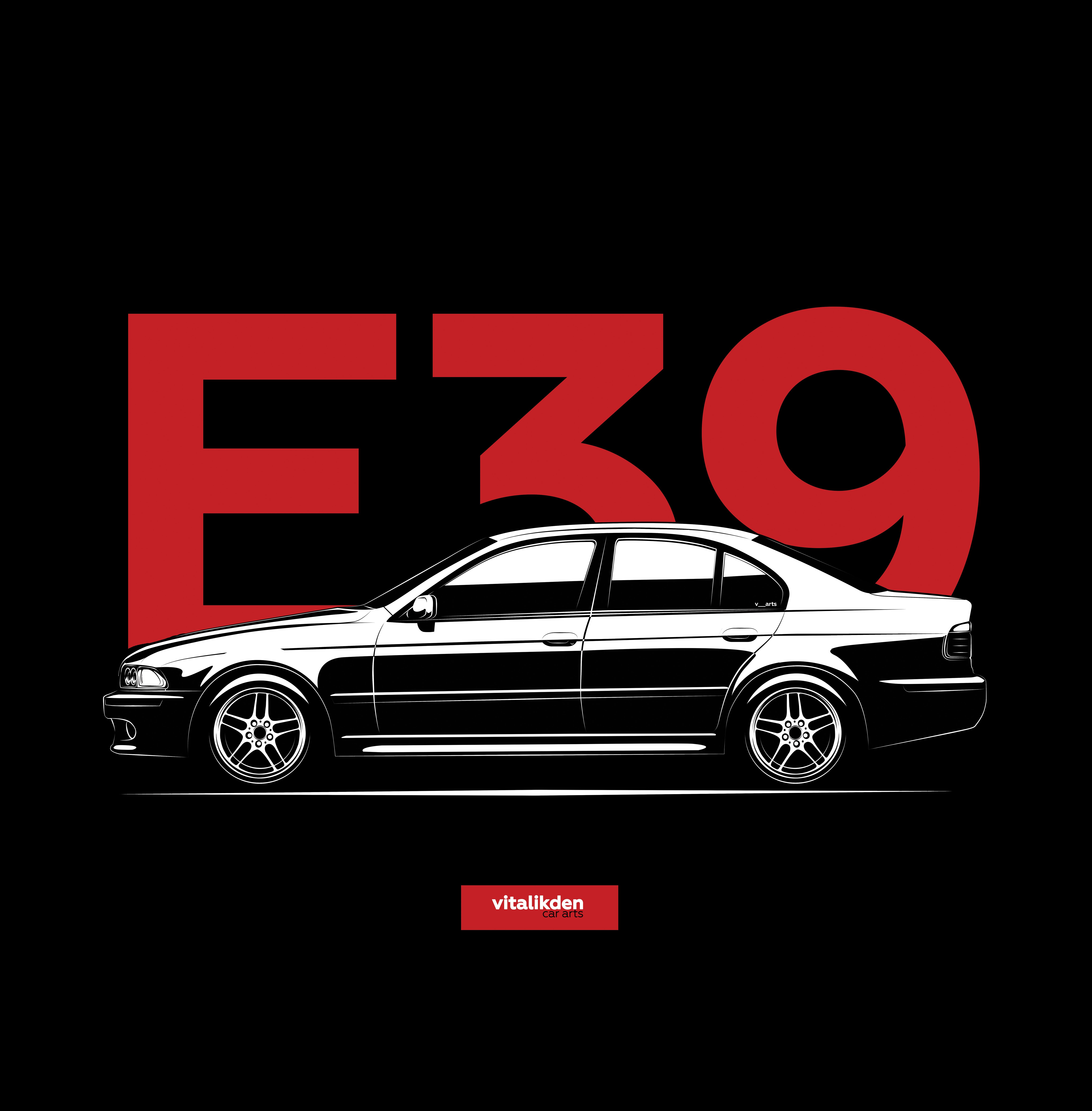 E39 Logo Hoody Hoodie Hooded Top