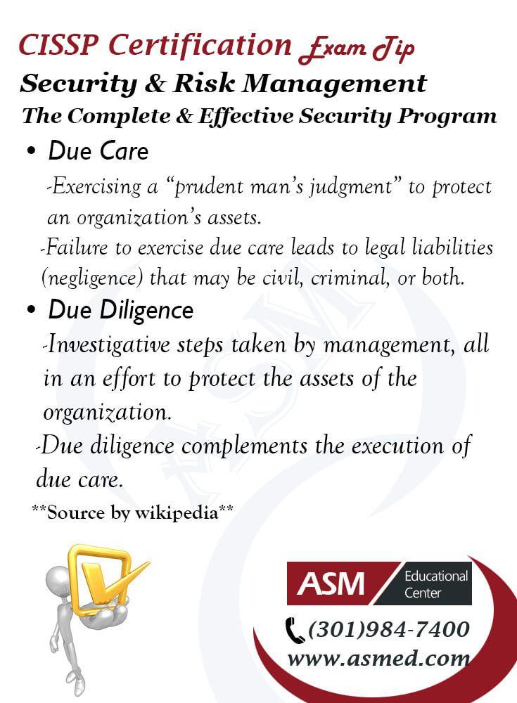 Cissp Certification Traning Exam Tip Security Risk Management