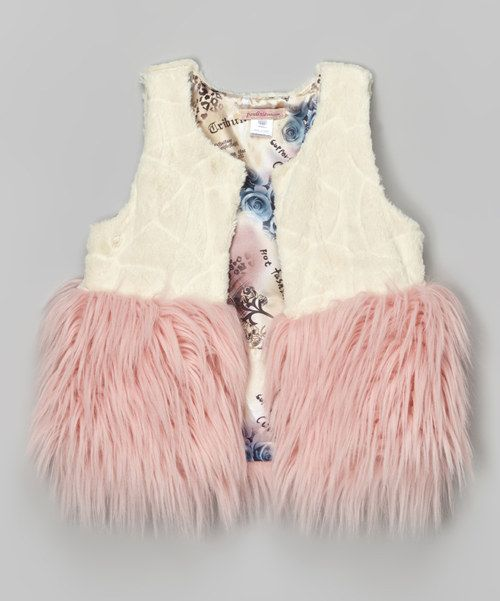 Look at this Pink Faux Fur Vest - Toddler on #zulily today!