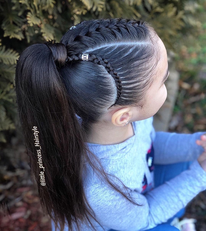 Ponytail With Braids Inspired By My Talented Friend Noemi Noemi Espinosa 29 Tren Peinados Infantiles Peinados Con Trenzas Para Ninas Trenzas En Coleta