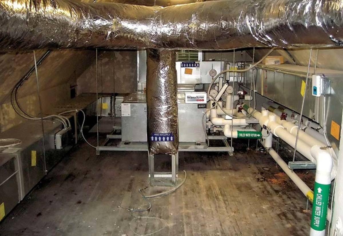 An Easy Hvac Retrofit For Old Houses Attic Renovation Attic Flooring Attic Apartment