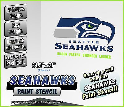 Seattle Seahawks Paint Stencil For Walls Team Stuff