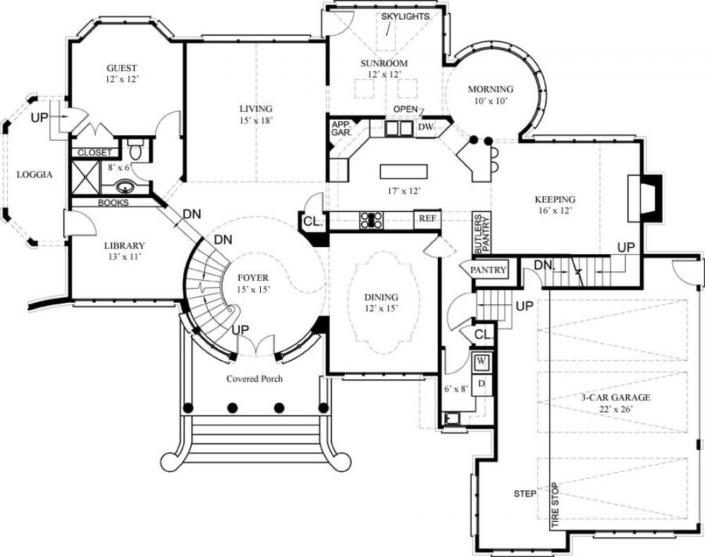Luxury House Floor Plans and Designs Treehouse Pinned by www