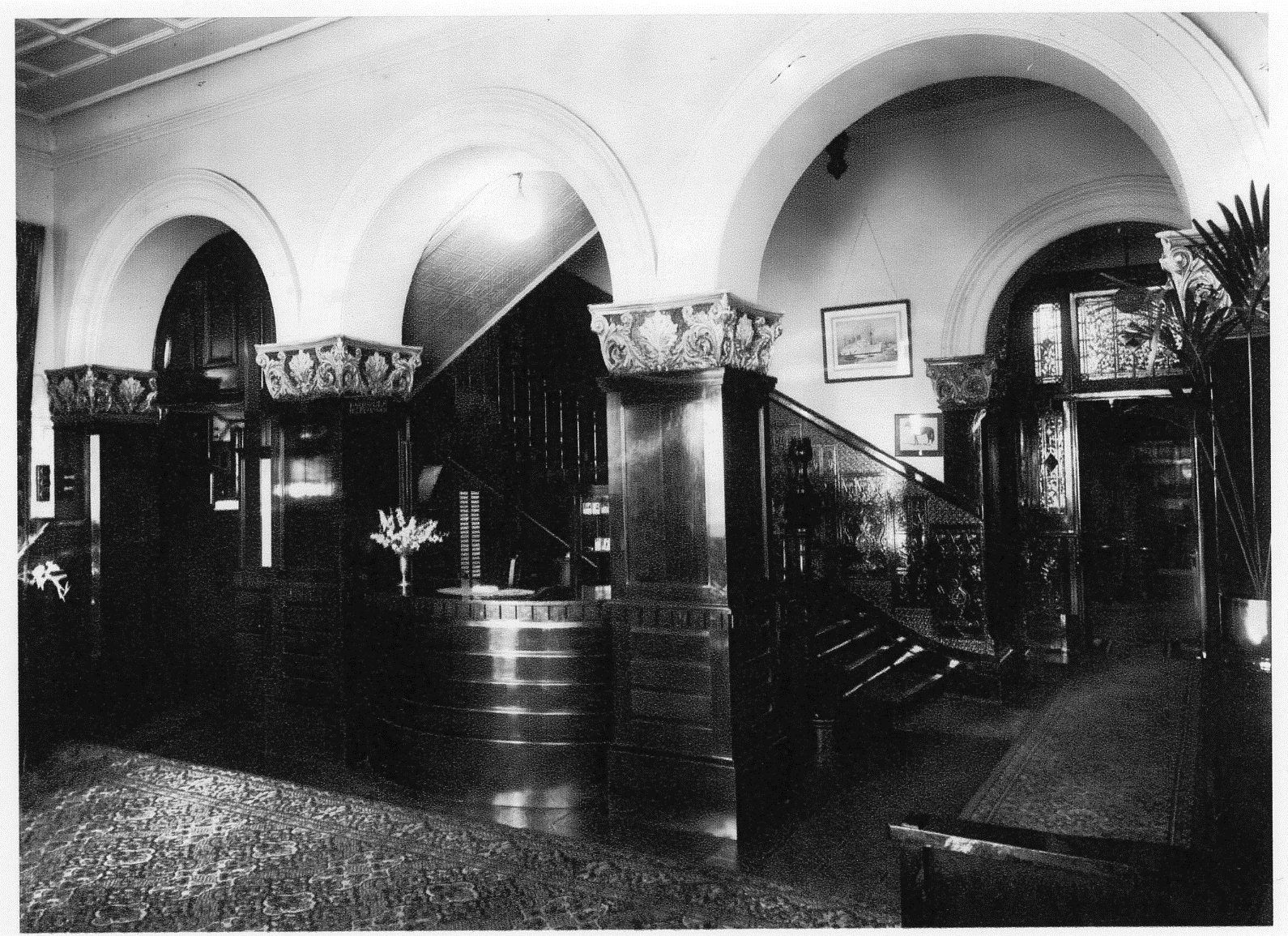 Western Foyer Box Office : Esplanade hotel entrance foyer and telephonist office