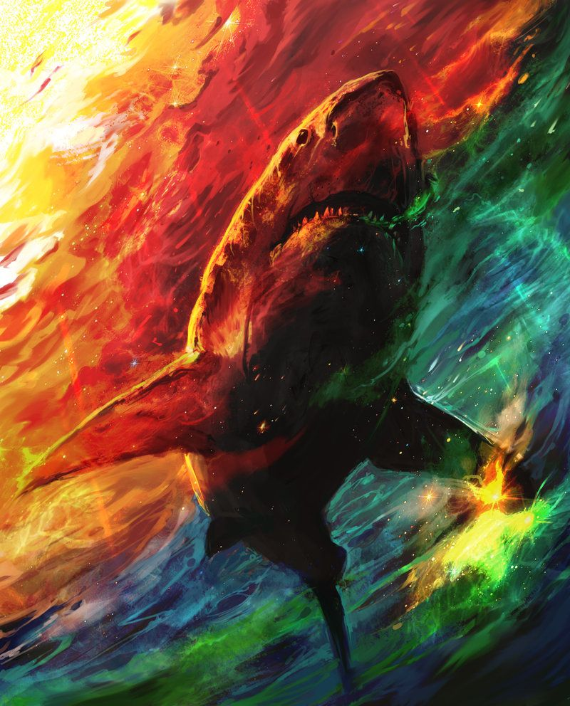 Diamond Big Shark Painting Beautiful Sea Creature Design Embroidery Wall Display