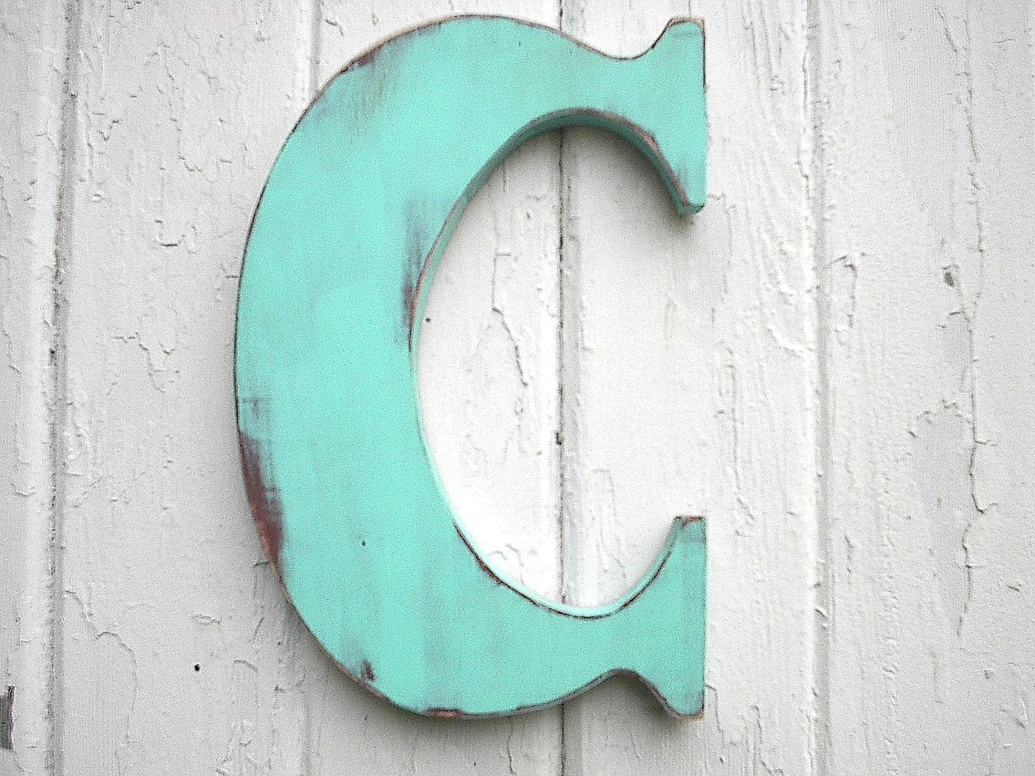 Wooden Letters Classic 12 Inch Letter C Patina Wall Decor Kids Wall Art Initial Vintage Style Shabby Chic Cabin Cottage Dorm Decor Shabby Chic Letters Art Wall Kids Shabby Chic Cabin