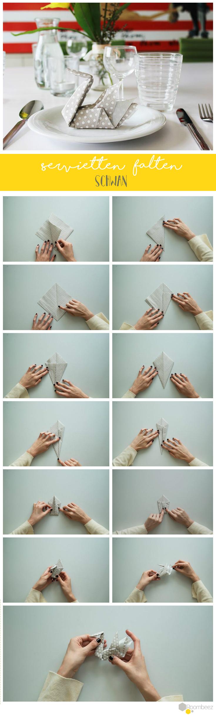 Servietten falten » 15 Anleitungen und Videos