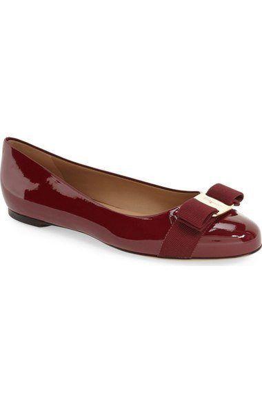 'Varina' Leather Flat