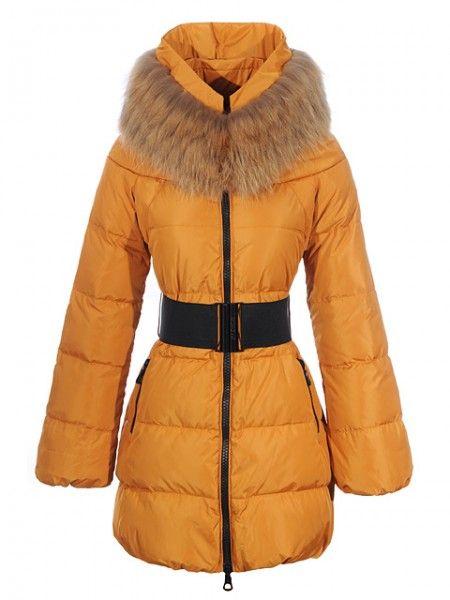 Vendre Pas cher Moncler Nouveau! Moncler sauvage manteau femme zip orange 387bf6b9cb6