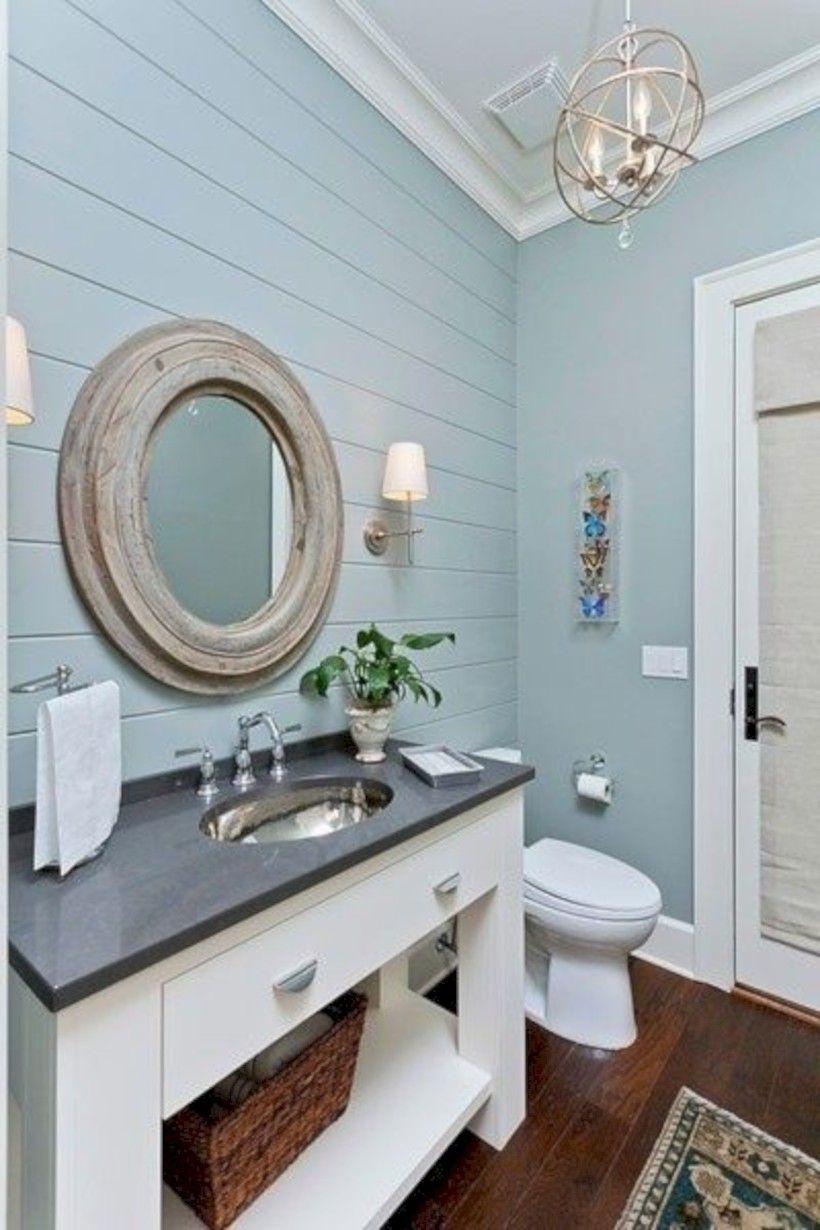 32 Brilliant Coastal Beach Bathroom Makeover Ideas