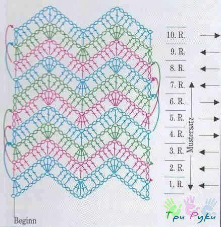Chevron stitch diagram punti a uncinetto pinterest pontes chevron stitch diagram ccuart Gallery