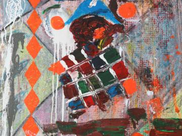 Jocker. Acryl on canvas 50x50x3cm
