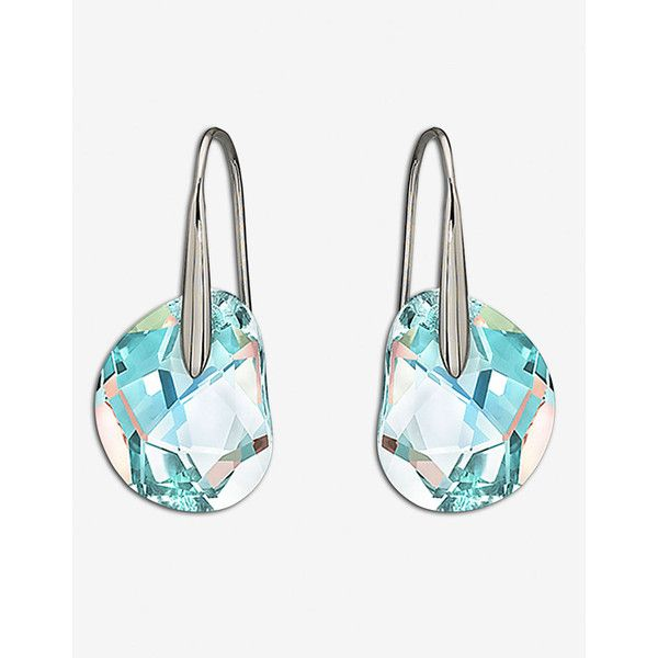 Swarovski Galet Pierced Earrings 75 Found On Polyvore Featuring Jewelry Accessories