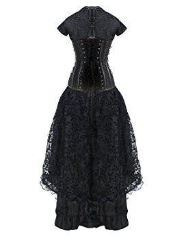 Gothic kleider lang xxl