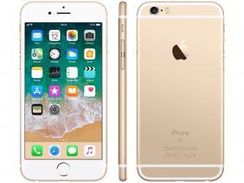 Iphone 6s Apple 32gb Dourado 4g Tela 4 7 Retina Cam 12mp Selfie 5mp Ios 11 Proc A9 Smartphone Iphone Iphone Apple Iphone